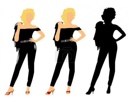 Fifties chicks in 3 styles
