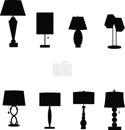 Retro table lamps templates