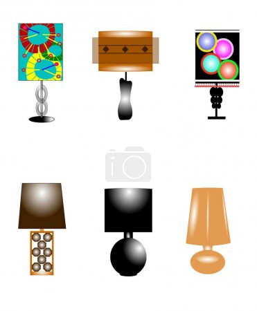 Funky retro lamps
