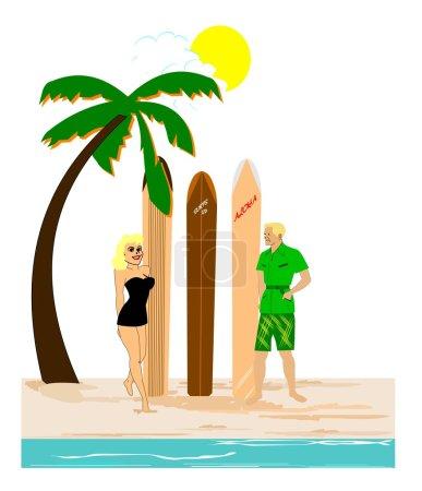 Surfs up concept
