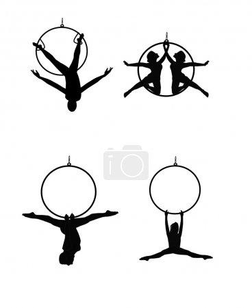 Aerial ring dancers set