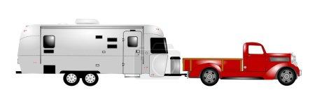 Retro rv with truck
