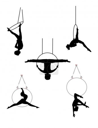 Aerial hoop acrobats