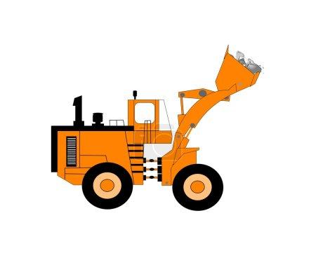 Bulldozer with full bucket