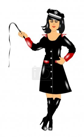 Domme holding whip