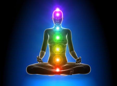 Photo pour Méditation - Chakras - image libre de droit