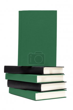 Stack Of Books With Front Cover Copy Space