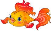 Cartoon gold fish Vector illustration