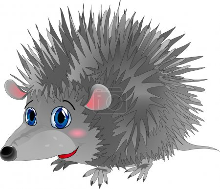 Illustration for Hedgehog in cartoon style as a vector illustration - Royalty Free Image
