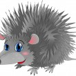 Hedgehog in cartoon style as a vector illustration...
