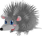 Hedgehog in cartoon style as a vector illustration