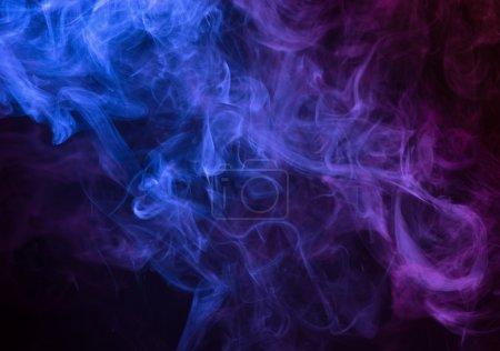 Photo for Abstract smoke on a dark background - Royalty Free Image