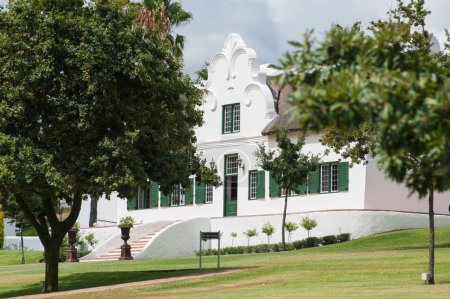 The Stellenbosch wine lands region near Cape Town