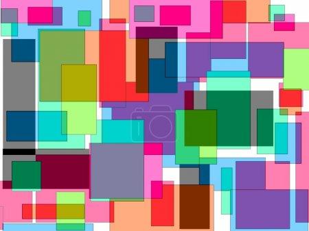 Foto de El diseño geométrico abstracto moderno superpuesto sobre un fondo blanco es dramático con sus bloques de sombras de colores brillantes y líneas de intersección adecuado para wallpapers y fondos. - Imagen libre de derechos