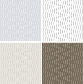 Set of 4 seamless patterns with curvy lines