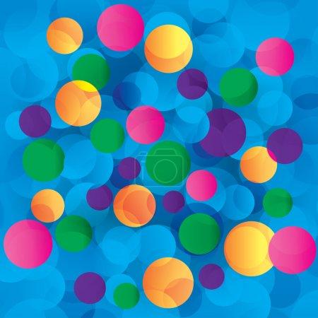 Foto de Círculos coloridos abstractos ilustración de fondo de luz. Círculos azules, rosados, verdes, naranjas, amarillos y magenta. - Imagen libre de derechos