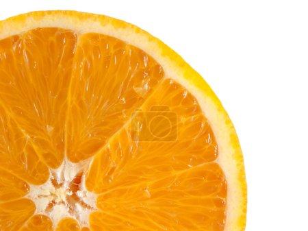 Photo pour Tranche d'orange mûre isolé sur fond blanc. agrumes frais d'alimentation (santé). fruits sains, avec des vitamines. - image libre de droit
