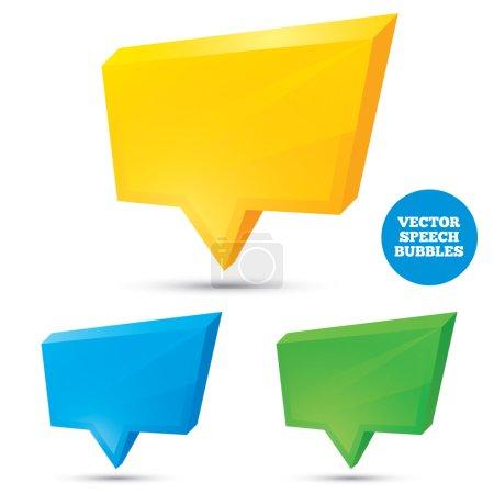 Foto de Burbujas de habla 3d colorido. Ilustración para su diseño . - Imagen libre de derechos
