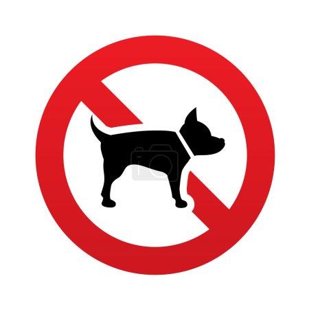 Photo pour Pas d'icône de signe de chien. Symbole des animaux. Panneau rouge d'interdiction. Le symbole Stop. illustration - image libre de droit