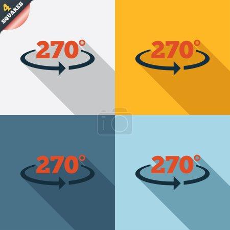 Winkel 270 Grad Zeichen Symbol. Mathematisches Symbol der Geometrie