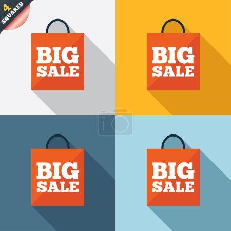 Ikone für große Verkaufstüten. Sonderangebotsymbol.