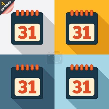 Kalenderzeichensymbol. 31 Tage Monat Symbol.