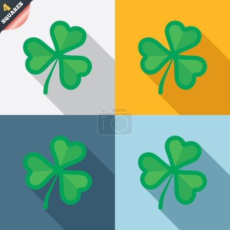 Klee mit drei Blättern. Symbolbild von St. Patrick