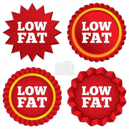 Low fat sign icon. Salt, sugar food symbol.