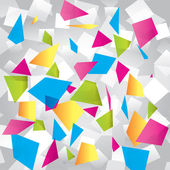Light colorful abstract background with geometrical figures