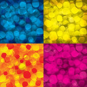 Colorful abstract backgrounds with round objects