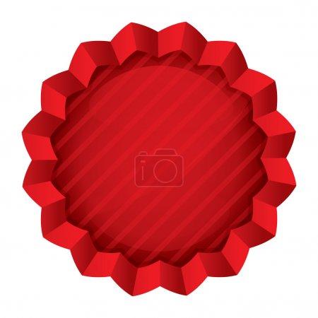 Illustration pour Modèle d'étiquette de prix. Sticker étoile ronde rouge vectoriel. Icône pour le shopping (vente, offre spéciale). Isolé sur blanc . - image libre de droit