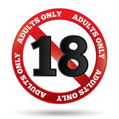 Adults only content sign Vector age limit icon