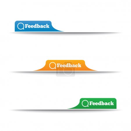 Feedback labels. Feedback tags on the page.