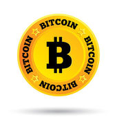Bitcoin Innovative cryptography currency Open source P2P (peer-to-peer) payment network Digital money for internet business Vector