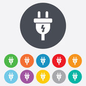 Electric plug sign icon Power energy symbol