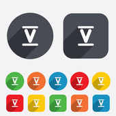Roman numeral five icon Roman number five sign