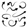 Curved arrows set. Full rotation. 360 degrees. Refresh, repeat symbol. Vector
