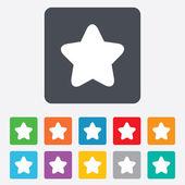 Star sign icon Favorite button Navigation