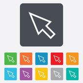 Mouse cursor sign icon Pointer symbol