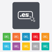 Domain ES sign icon Top-level internet domain