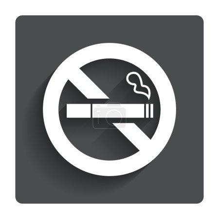 No Smoking sign icon. Cigarette symbol.