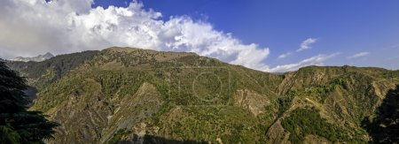 Photo for Panorama of the Dharamsala hills, in Himalaya mountains. - Royalty Free Image