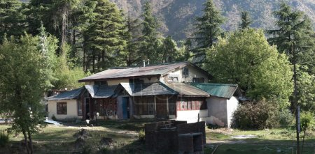 Photo for Small camp on the hill near Dharamsala, in Himalaya mountains. - Royalty Free Image