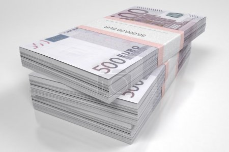 Packets of 500 Euro bills
