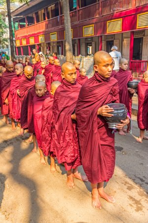 Buddhist novices in Mandalay