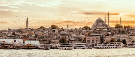 Istanbul Golden Horn at sunset