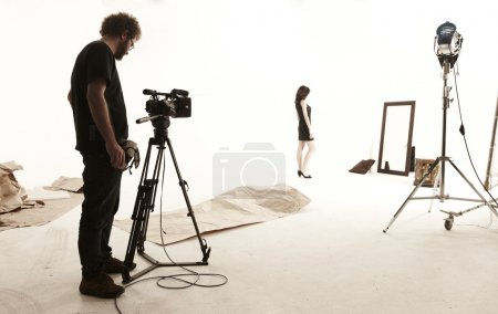 Studio set with camera operator