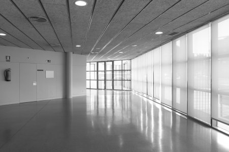 Empty corridor in a modern office building