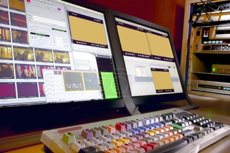 Editing console. Adjustment and electronic equipment