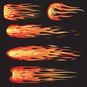 A set of five flames that can be used for design or decals